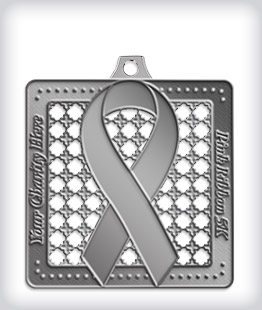 Antique Silver Custom Awareness Medals