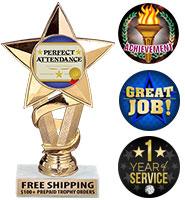 "7"" Gold Star Insert Trophy"