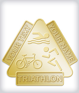 Custom No Color Triathlon Pins