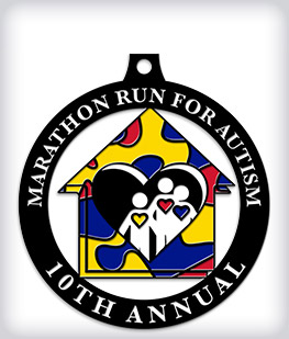 Black Dyed Custom Marathon Medals