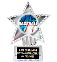 "6"" Silver Cosmic Icicle Star Insert Trophy"