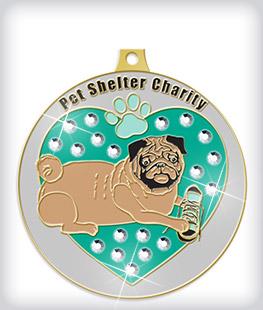 Rhinestone Custom Charity Medals