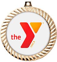 "2 1/2"" YMCA Diamond Cut Insert Medals"