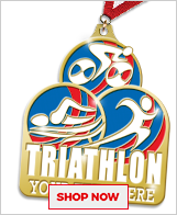 Triathlon Custom Medals