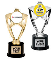 """7"""" Gold and Silver Star Insert Trophy"""