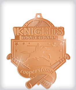 Shiny Bronze Custom Softball Medals