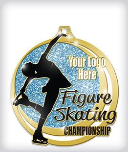 Glitter Custom Skating Medals