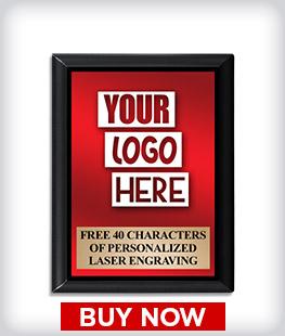 Custom Black Logo Plaque