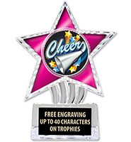 "6"" Pink Cosmic Icicle Star Insert Trophy"