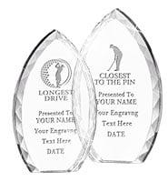 Tear Drop Crystal Awards