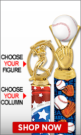 Baseball Column Trophies