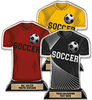 Acrylic Soccer Jersey Front Trophy