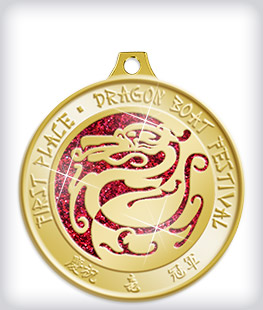 Glitter Custom Dragon Boat Medals