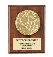 Relief Globe Plaques