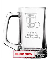 Beer Pong Glassware
