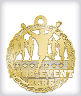 Shiny Gold Custom Marathon Medals