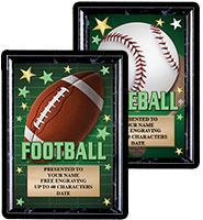 Glow In The Dark Sport Show Stopper Plaques