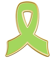 Lime Awareness Ribbon Pin
