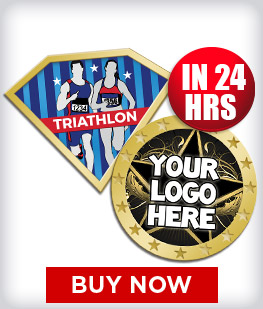Custom Insert Triathlon Pins