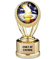 "5"" Gold Wreath Insert Trophy"