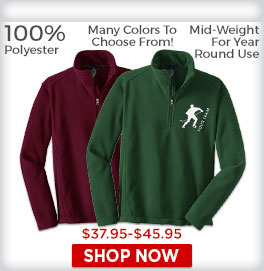 Zip Pullover Fleece Shirts
