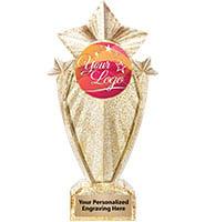 "8"" Stargram Gold Glitter Icicle Trophy"