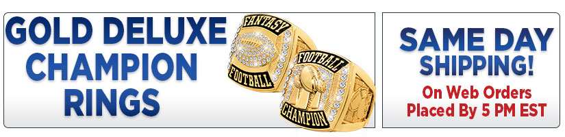 Gold Deluxe Champion Rings