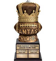 Fantasy Football Champion King Perpetual Trophy