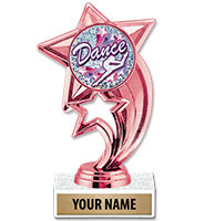 """6 3/4"""" Pink Sky Rocket Insert Trophy"""