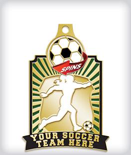 Rhinestone Custom Soccer Medals