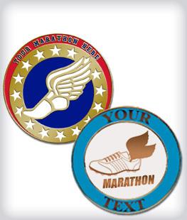 Custom Semi Cloisonne Marathon Pins