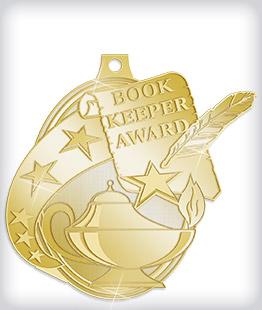 Shiny Gold Custom Scholastic Medals
