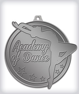 Antique Silver Custom Dance Medals