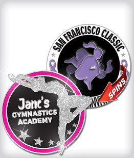 Custom Specialty Gymnastics Pins