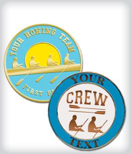 Custom Semi Cloisonne Rowing Pins