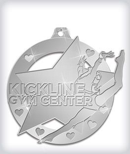 Shiny Silver Custom Gymnastics Medals