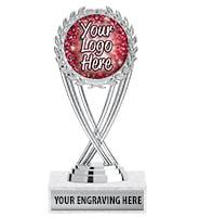 Silver Olympia Custom Insert Trophy