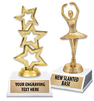 """6"""" Contemporary White Base Trophy"""