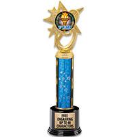 "16"" Blue Astral Star Insert Trophy"