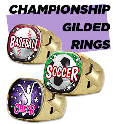Championship Gilded Rings