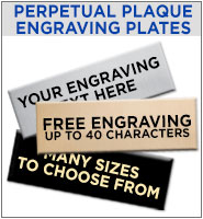 Engraving Plates For Perpetual Plaques