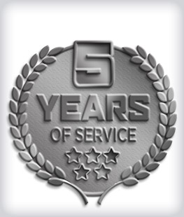 Antique Silver Custom Years of Service Pins