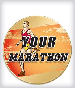 Custom Printed Marathon Pins