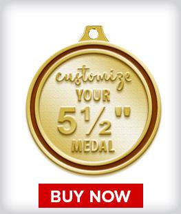 """Custom 5 ½"""" Medal"""