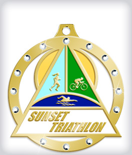 Rhinestone Custom Triathlon Medals