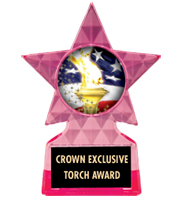 "5 3/4"" Pink Icicle Star Insert Trophy"
