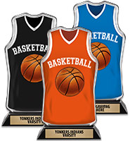 Acrylic Basketball Jersey Front Trophy