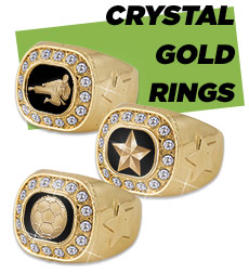 Championship Crystal Gold Rings