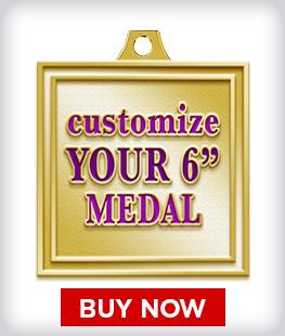 """Custom 6"""" Medal"""