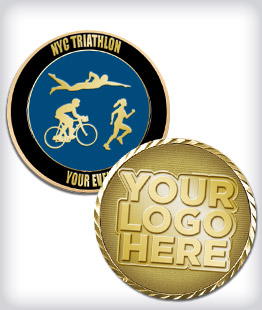 Custom Triathlon Coins